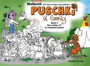 Cover Puschki und Family Malbuch