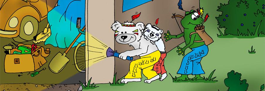 Puschky & Family - Milky Way, Weiße Tatze & Quaki als Detektive