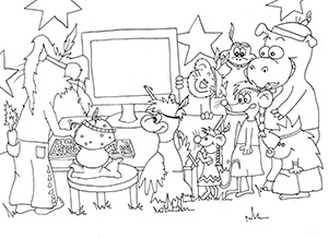 Puschki & Family - Pilzi am PC