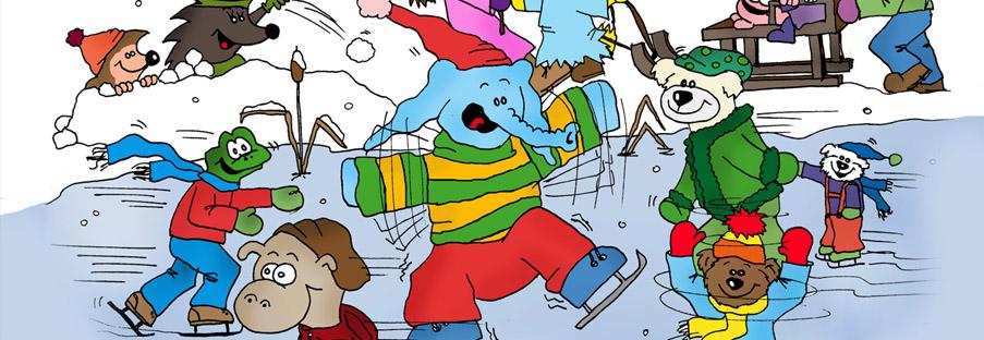 Puschky & Family - auf dem Eis